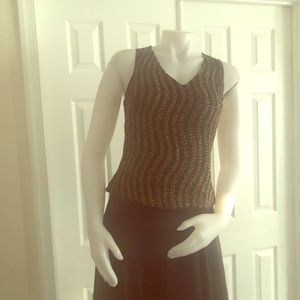 Laurence Kazar Vintage Beaded Top PM